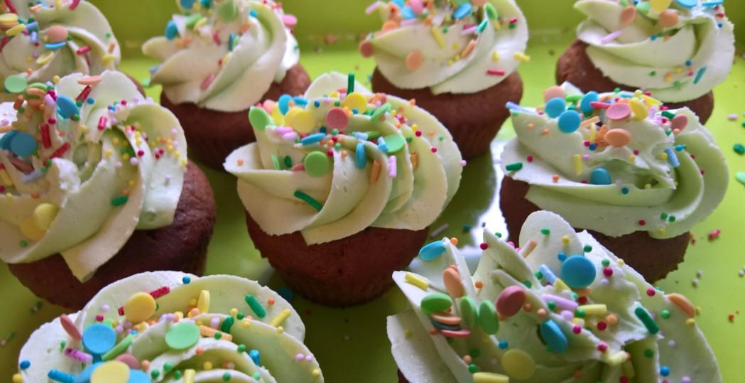 cupcakes met botercrème gistvrij