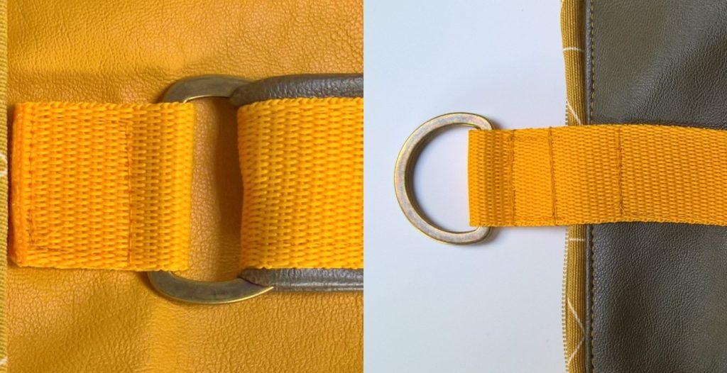 D-ringen bevestigen (voor bijvoorbeeld een tas)