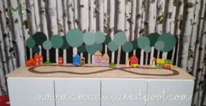 een straat & bos voor op de Stuva kastjes (Ikea-hack)