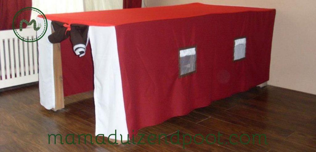 De tafeltent, een tent voor over de tafel