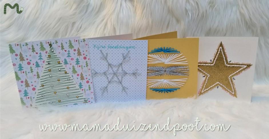 Kerstkaartjes naaien en borduren