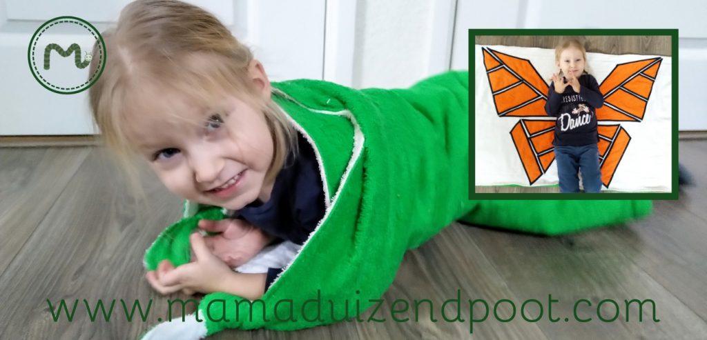 Een roldoek (van rups naar vlinder)