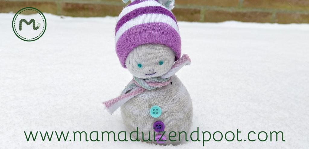 Een simpele winterse sokpop