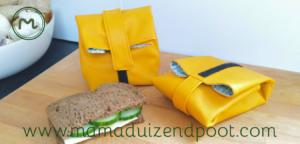 Herbruikbare boterham opbergers