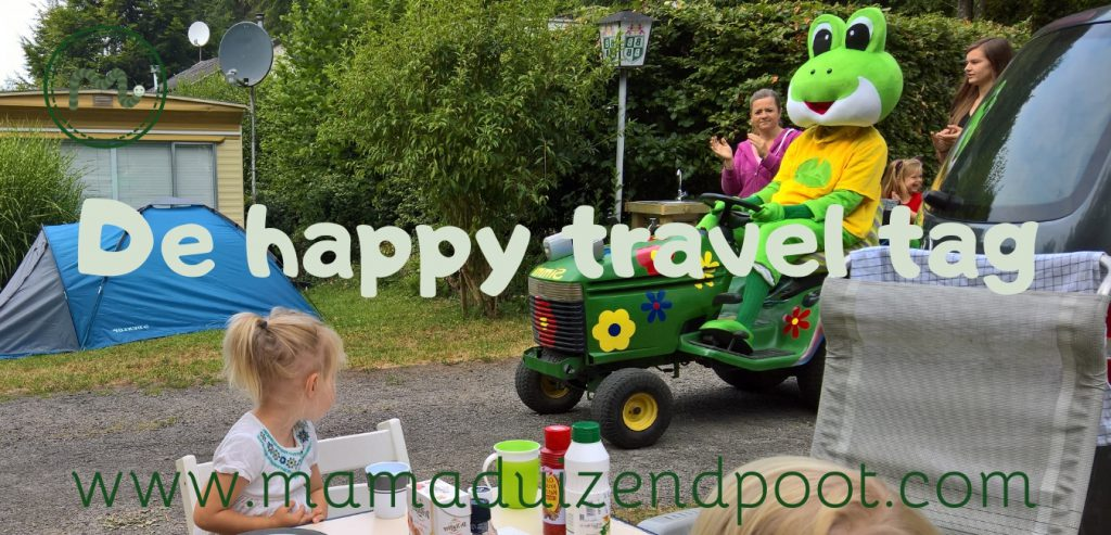 De happy travel tag