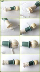 poppetjes van klosjes en spoeltjes (hoofd op lijf)