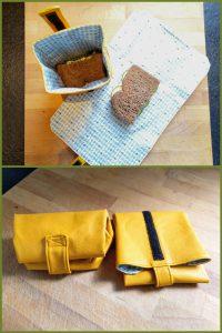 Herbruikbare boterham opbergers (open en leeg)