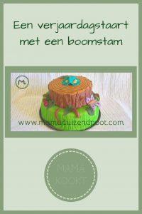 Pinterest - Een verjaardagstaart met een boomstam
