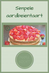 Pinterest - simpele aardbeientaart