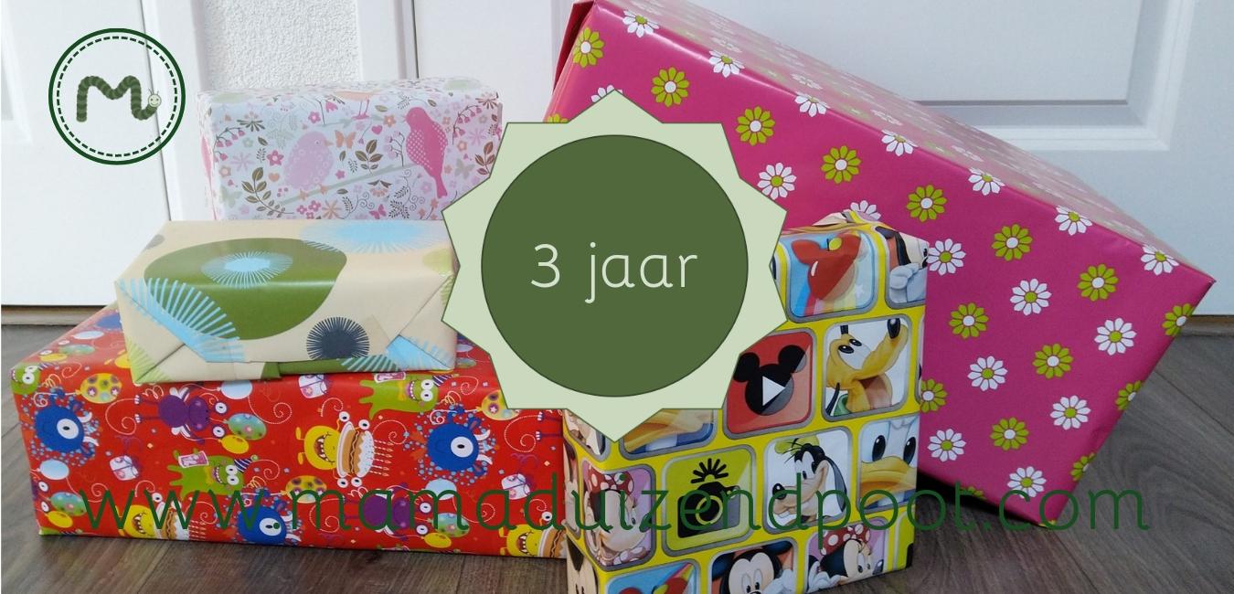 cadeau voor een kind van 3 jaar
