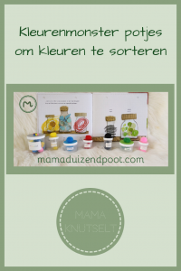 Pinterest - Kleurenmonster potjes om kleuren te sorteren