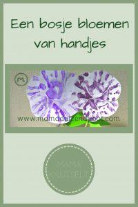 Pinterest - bosje bloemen van handjes