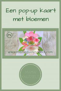Pinterest - pop-up kaart met bloemen