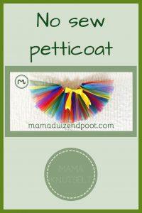 Pinterest - no sew petticoat