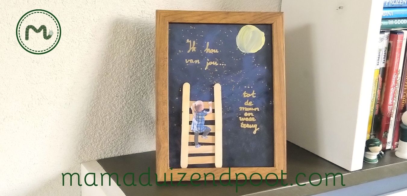 mixed media art voor vaderdag