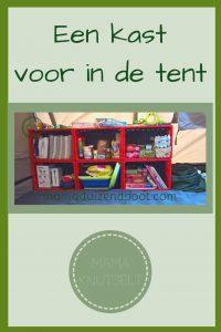 Pinterest - Een kast voor in de tent