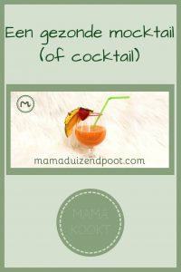 Pinterest - een gezonde mocktail (of cocktail)