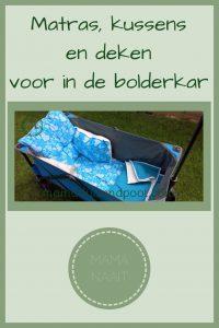Pinterest - matras, kussens en deken voor in de bolderkar