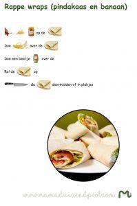 Rappe wraps (pindakaas en banaan)