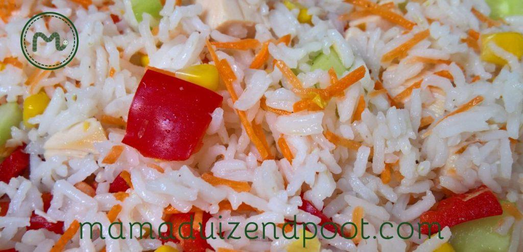 Een frisse rijst salade