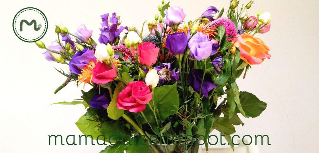4x genieten van dezelfde bloemen