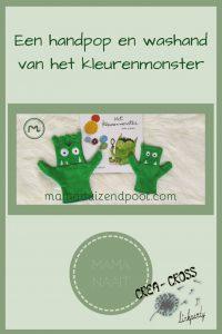 Pinterest - handpop en washand van het kleurenmonster