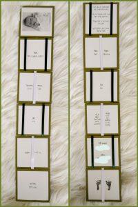 jacobsladder van papier, geboortekaartej