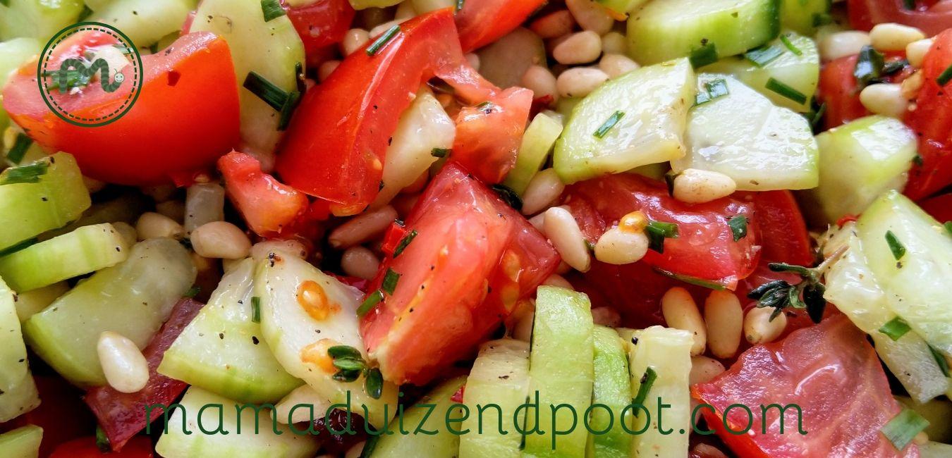 pittige tomaten salade