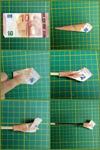 Geld cadeau geven -geldbloem vouwen