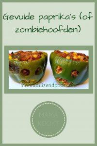 Pinterest - Gevulde paprika's (of zombiehoofden)