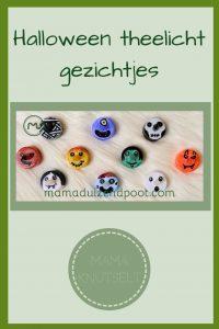 Pinterest - Halloween theelicht gezichtjes