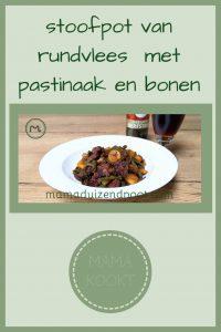Pinterest - stoofpot van rundvlees met pastinaak en bonen