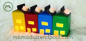Huisjes van een melkpak