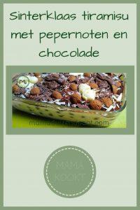 Pinterest - Sinterklaas tiramisu met pepernoten en chocolade