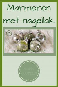 Pinterest - marmeren met nagellak