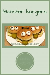 Pinterest - monster burgers