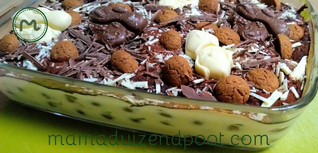 Sinterklaas tiramisu met pepernoten en chocolade