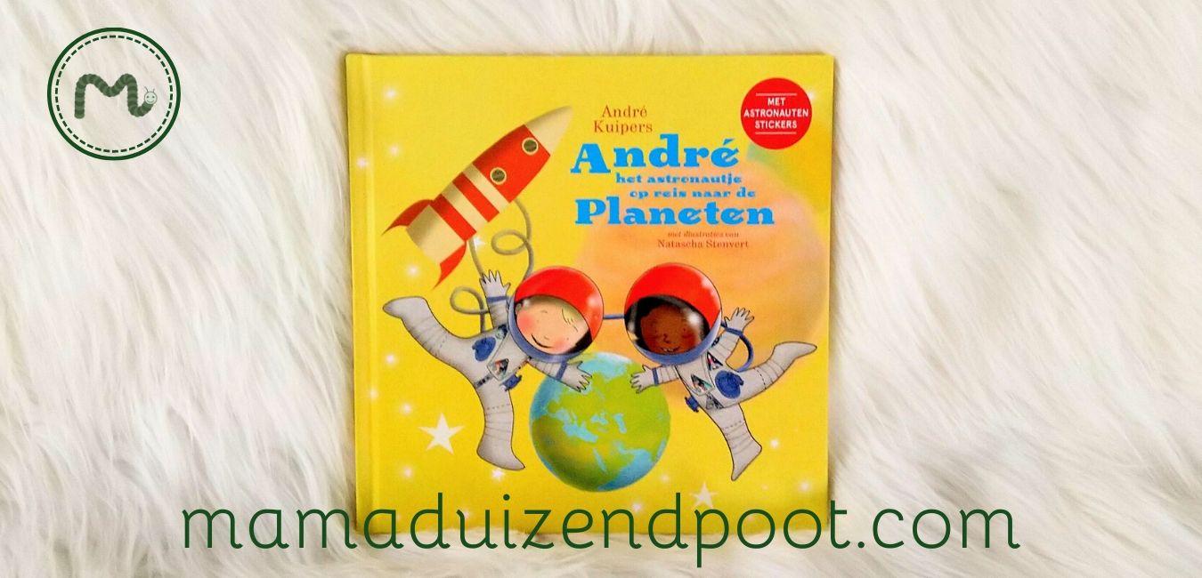André het astronautje op reis naar de planeten