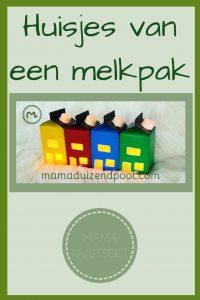 Pinterest - Huisjes van een melkpak