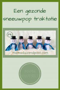 Pinterest - gezonde sneeuwpop traktatie
