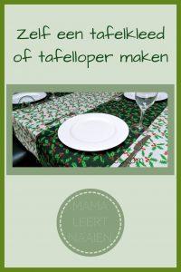 Pinterest - tafelkleed of tafelloper maken