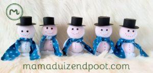 gezonde sneeuwpop traktatie