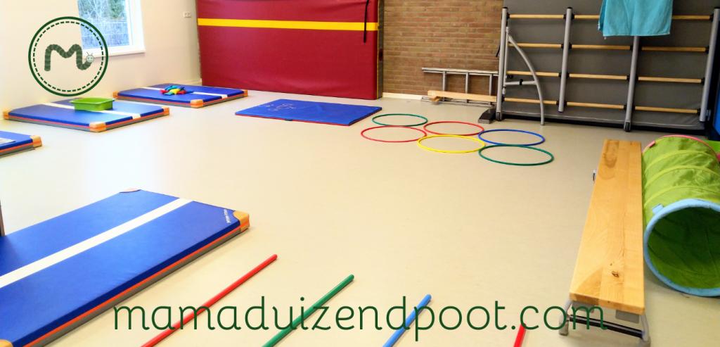 Een 'Moppereend' parcours voor de speelzaal of gymzaal