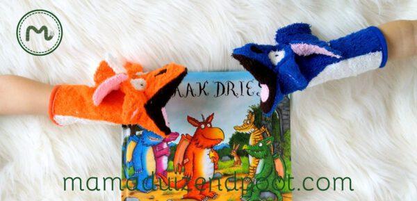 Draak Dries washand & handpop