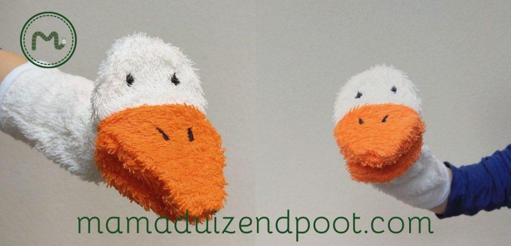 (Mopper)eend washand en handpop