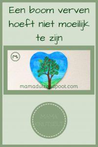 Pinterest - Een boom verven met wattenstaafjes