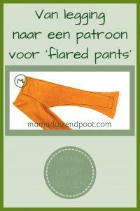 Pinterest - patroon flared pants van een legging