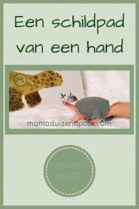 Pinterest - schildpad van een hand