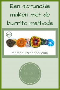 Pinterest - scrunchie met burrito methode