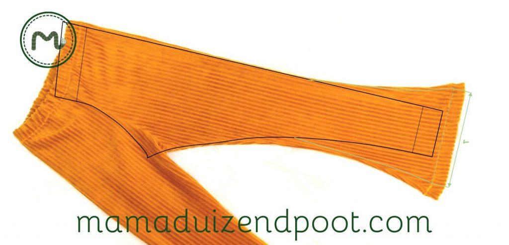 Van legging naar een patroon voor 'flared pants'